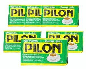 6x Cafe Pilon Decaf Espresso Ground Coffee 10 oz
