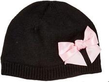 Kate Spade New York Black & Pink Bow Hat Sz L/Xl 12/14