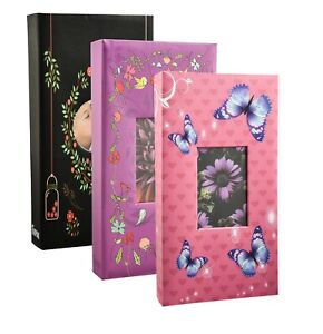 6x4 Designer Photo Album with 300 Pockets With CD/DVD Pocket 18x4x33 cm