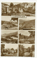 Wales - Llangollen, Multiview -  Vintage Real Photo Postcard