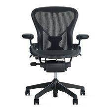 Aeron Chair Size A (POSTURE FIT) Black Classic   OPEN BOX DWR Herman Miller