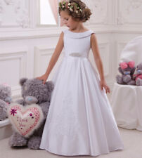 New Satin Wedding Party Flower Girl Holy Communion Party Princess Pageant Dress