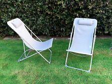 2x Zero Gravity Chair Reclining Sun chairs Outdoor Garden Folding Adjustable