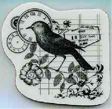 HERO ARTS CLINGS RUBBER Stamp TIMELY BIRD CG292 STUNNING!