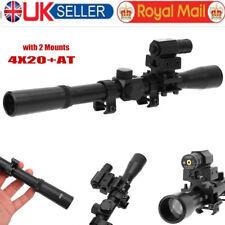 for 22 Rifles 4x 100m Air Gun Rifle Optics Scope Red Laser Sight & Mount Adapter