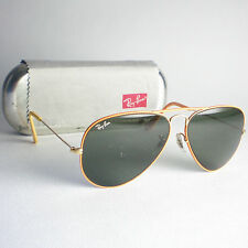 Vintage Ray Ban Usa B&L Flying Colors Aviadores Gafas De Sol Oro Naranja Durazno