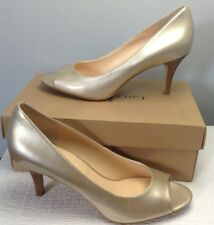 COLE HAAN AIR LAINEY OPEN TOE PUMP GOLD METALLIC PATENT SIZE 11B NIB