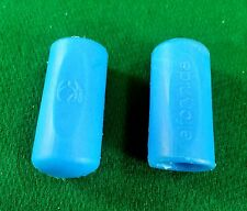 2 TIP PROTECTORS TURQUOISE ELFORYN ® POOL BILLIARD CUE 11mm - 14mm