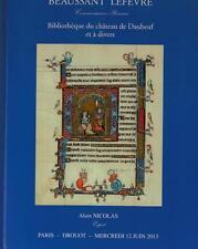 catalogue de vente Bibliotheque du chateau de Daubeuf livre ancien manuscrit