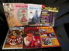 Mix lot 7 Vintage Crochet, Dolls, Quilting, Craft Books / Magazines Christmas +