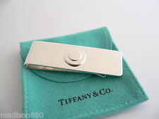 Tiffany & Co Silver Circle Round Engravable Money Clip Holder Rare Excellent!