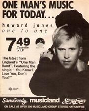 """1986 HOWARD JONES """"ONE TO ONE"""" ALBUM PROMO AD"""