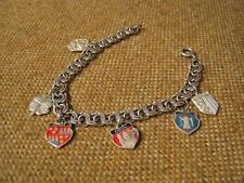 ▀█▀ ██ █▄ █▄ sehr altes Armband mit Wappenanhänger / Silber