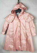 Rothschild Pink Dress Rain Jacket Coat Button Front Hood Girl's Size 3T