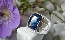 AAA QUALITY STERLING SILVER MENS JEWELRY CEYLON BLUE SAPPHIRE MENS RING
