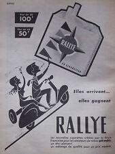PUBLICITÉ DE PRESSE 1955 CIGARETTES RALLYE - VESPA - CARUGATI - ADVERTISING
