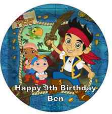 "Jake And The Neverland Pirates Personalised 7.5"" Cake Topper Birthday Edible"