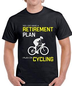 Cycling T Shirt Mens Unisex Bike Funny Top Gift Tee Cyclist RETIRE Idea Novelty