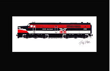 """New Haven PA1 11""""x17"""" Matted Print Andy Fletcher signed"""