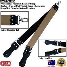 Premium Leather Barber Cut Throat Razor Knife Sharpening Strop / Belt, NEW