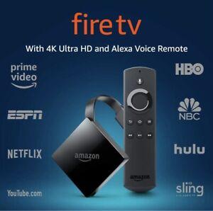 Amazon Fire TV 3rd Generation 4K UHD Ultra HD Media Streaming Alexa Remote MINT