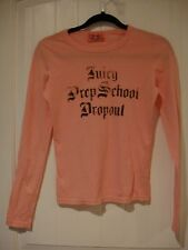 NWOT Juicy Couture long sleeve pink tee shirt so cute 100% cotton