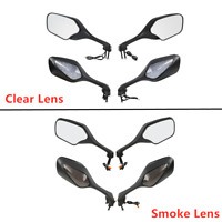 Rear View Mirrors Smoke/Clear LED Turn Signals For Honda CBR1000RR 1000 RR 08-12