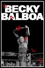 BECKY LYNCH 12x18 WWE ROCKY BALBOA POSTER WOMENS CHAMP SMACKDOWN RONDA ROUSEY