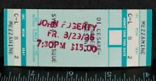 Vintage John Fogerty Ticket Stub August 29 1986 Pittsburgh Syria Mosque tob