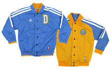 Adidas Denver Nuggets NBA Boys Youth On Court Reversible Jacket, Blue/ Yellow