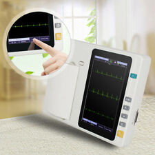 Portable Ecg301 Digital 3 Channel 12 Lead Electrocardiograph Ekg Machinecable
