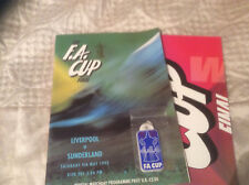 1992 FA CUP FINAL SUNDERLAND V LIVERPOOL INC KEY RING POSTER