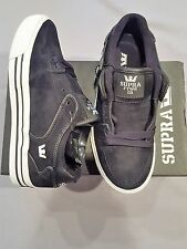 SUPRA VAIDER LOW KIDS SHOES BLACK SUEDE WHITE SIZE US 6.5 UK 5.5 NEW BOX S36021