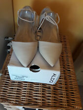 ALDO size 5 Chessi pointy lace up shoes in cream colour, worn once, with box
