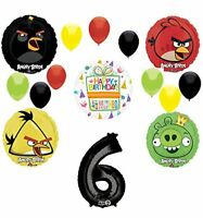 Angry Birds Party Supplies 6th Birthday Balloon Bouquet Decorations