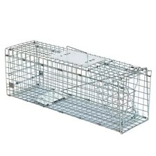 "Live Animal Trap Cage 24""X8""X 7.5"" Humane Rodent Cage Squirrel Steel Outdoor"