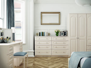 Ready Assembled Langley White Wardrobe Drawers Complete Bedroom Furniture Set