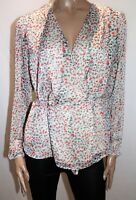ATMOS&HERE Brand Pink Leopard Harlow Wrap Around Blouse Top Size 12 BNWT #RA36
