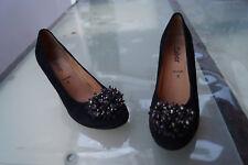 Elegante Gabor Sacchetto Zapatos Mujer Zapatos de Tacón Abendschuh Gr.5/38 Cuero