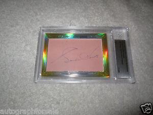 Gordie Howe Bill Gadsby 2014 Leaf Masterpiece Cut Signature signed card 1/1 JSA