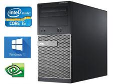 Dell Gaming Computer Tower Intel Core I5 3.3Ghz Quad Core Evga GTX 1050 Ready