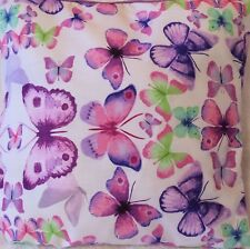 Sofia Lilac Butterfly Print Handmade Cushion Cover matches Next bedding 16x16""