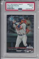 CRISTIAN PACHE ROOKIE 2017 Bowman Chrome Draft GRADED PSA 9 MINT Atlanta Braves