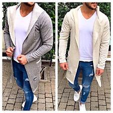 Oversize Pullover Cardigan Kapuze Strickjacke Herren Destroyed Style Luxus Neu
