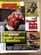MOTOSPRINT n°31 2001 Novità Ducati Monster 620 Buell Firebolt XB9X    [P59]