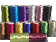15 Metallic Thread Spools, 15 colours 400 YARDS EACH