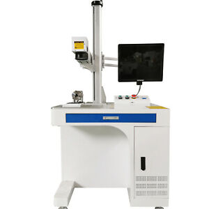 50W Fiber Laser Marking Machine USB metal cut, Aluminum mark deep cut PC