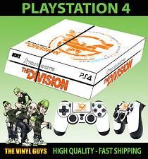 PS4 Piel Tom Clancy The Division LOGO BLANCO Pegatina + Pad VINILO Lay Plano