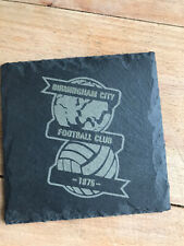 1 X Birmingham City Natural Slate Coaster Coffee Table Drinks Place Mat 10cm