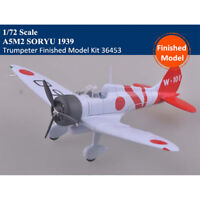 Trumpeter 36453 1/72 A5M2 Shipboard Fighter SORYU 1939 Finished Model Kit